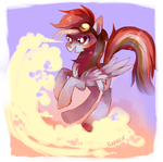 dashing through the clouds by Kunaike