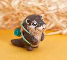 Otter the Explorer totem by lifedancecreations