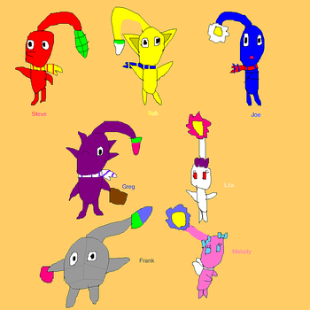 Pikmin group by SuperSmashCynderLum