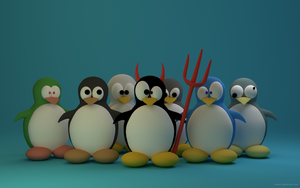 A crowd of penguins No text Blender by vinno1
