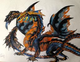 Kaihuo the Igneous Fire Dragon by Labyrinth-Knights