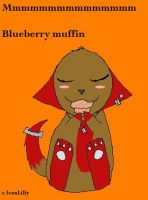 Blueberry muffin by IcexLilly