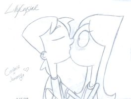 CandacexJeremy Kiss by LillyCrystal