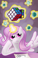 Celestia and the Rubik's Cube by BrownWolfFM