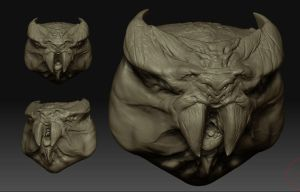 Zbrush sketch - WalrusCowBat by Cok3ster