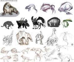 creatures and more by zelas