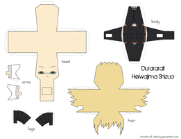 Heiwajima Shizuo Papercraft by brioche-of-destiny