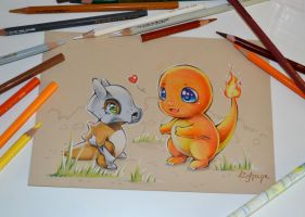 Cubone found a new Friend by Lighane