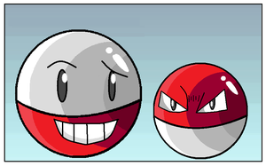 Voltorb and Electrode by Shadow-Dinosaur
