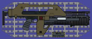 The M41A Pulse Rifle by Sev-Tai