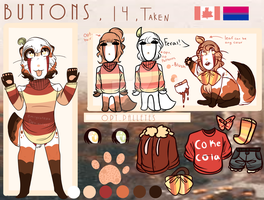 Updated Main fursona : Buttons 2017 by emilycutepie