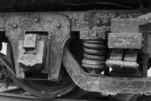 old train car wheel carrage by ringmale