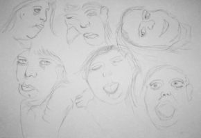 Practice of Facial Expressions by PaulDS89