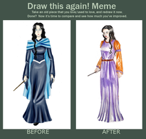 Meme_Before And After_Melita McFarren by BeatrixBonnie
