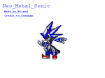 Neo metal sonic sprite by Noland005