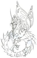 """Hippocampus """"Inked"""" by howling00greywolf"""