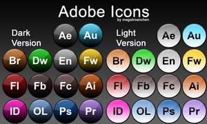 Adobe Iconpack (Glass-Rounded) by Megatroenchen