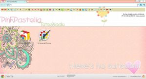 Theme Pink Pastelia for Google Chrome by TutosVaalu