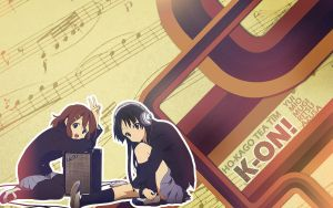 K-on_YUI y MIO Wallpaper by AnielmiaH