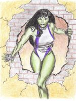 She Hulk by poisonapple1982