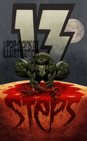 THIRTEEN STEPS back cover by pop-monkey