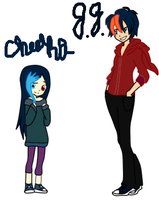 Cheeka and J.J as kids by heartofsnow241