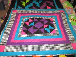 Back of Scrap Quilt by GothicRockerGirl