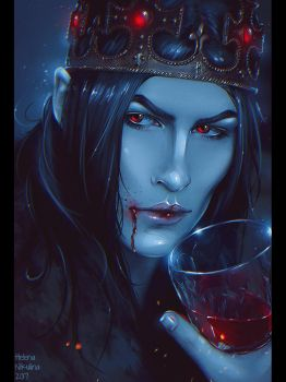Bloody King (Commission) + Video by Nikulina-Helena