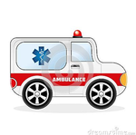 Cartoon Ambulance Car by zonnyjhon