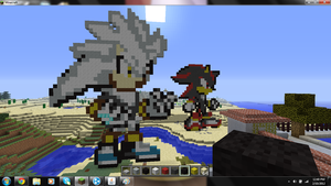 Silver and Shadow Minecraft by android17lover