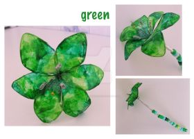 Green Flower by bicyclegasoline
