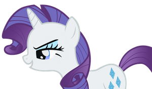 Smirking Rarity by punchingshark