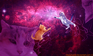 Cat-Wars in Outer Space! by DezzyFox55