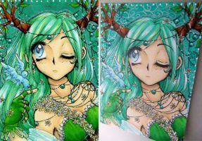 ACEO Trade - Tohea by ICanReachTheStars