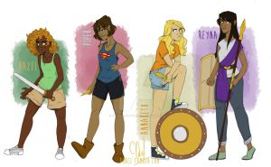 Ladies of the Olympus by Grouillote-oh