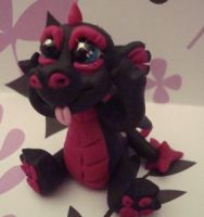 polymer clay dragon pinkster by crazylittlecritters