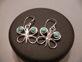 silver butterfly earrings by irineja