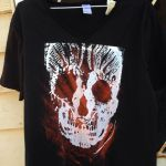 Sun printed screen printed skull tee by SewObession