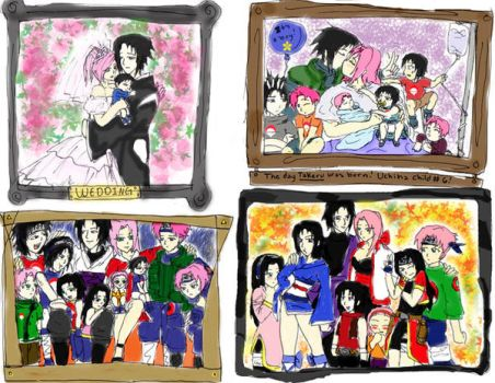 Uchiha Fam. Pic. frames by 1amm1