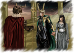 COMMISSION - Loki and Sigyn Marriage by LadyMintLeaf