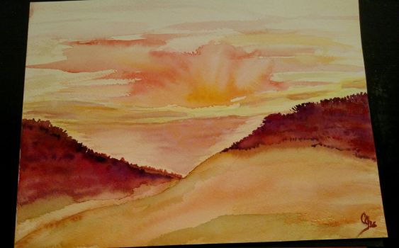 Sunrise Over The Dunes (Private Collection) by carolgregoire