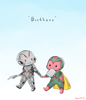 Ultron and Vision by KyomuRunA