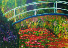 Bridge Across A Pond by annette-art