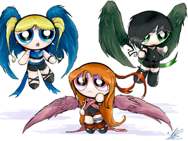Alternate Powerpuff Girls by dragongirl