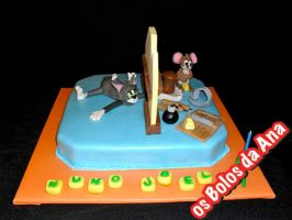 Tom and Jerry cake by osbolosdaana