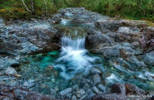 Blue Waterfall in HDR by PhotoForever88
