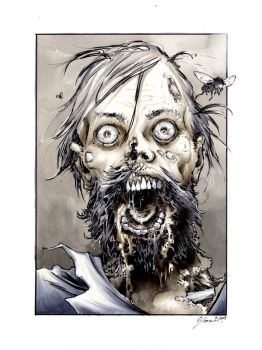 Walking Dead bearded zombie by DanielGovar