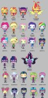 My Little Pony Funko Pop Vinyls - Friendship Games by Zephyros-Phoenix