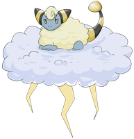 Day 5: Fluffy pokemon on a fluffy cloud by ShShShiver