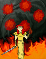 Celica casts Ragnarok (FE2) by ABACC15